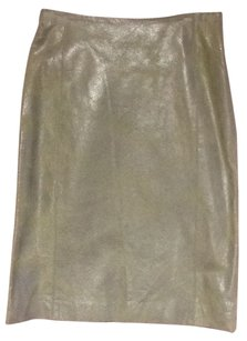 Suede Leather Skirt Lettuce
