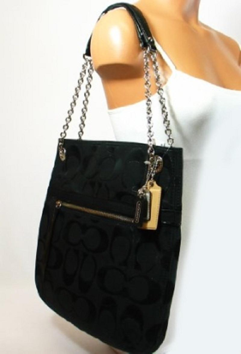 4d0cc3e720 ... buy coach 21161 poppy hippie slim convertible tote crossbody black and  26b90 e2834
