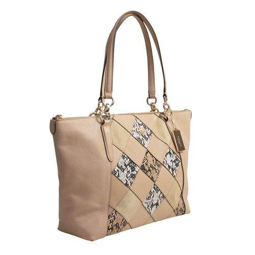 f7028a98cce2 ... discount code for coach ava in python embossed f35888 grey brown beige  leather tote coach shoulder ...