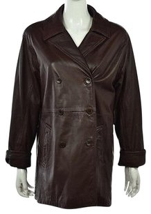 Coach Womens Leather Brown Jacket