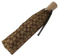 Coach Beige Signature Umbrella