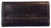 Coach Black Leather Trifold