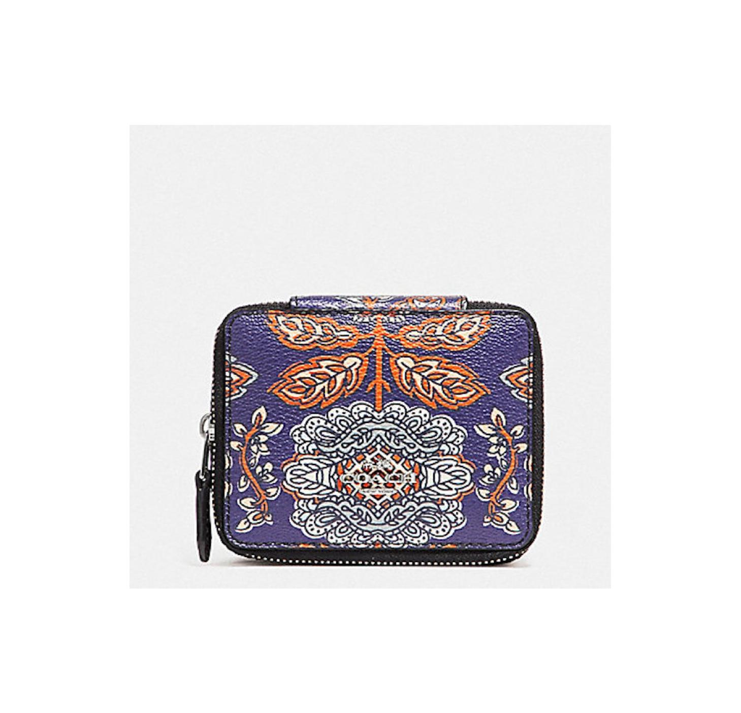 Coach BlueOrangeMulti Reduced New Item Forest Flower BlueOrange