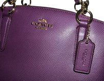 Coach Carryall 36704 Christie Leather Satchel in plum