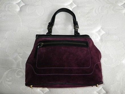 Coach Chanel Dooney Bourke Louis Vuitton Rare Satchel in Purple