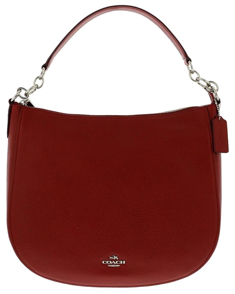 db015e78b44a sweden coach chelsea 58036 red curent leather hobo bag tradesy a8402 86e53