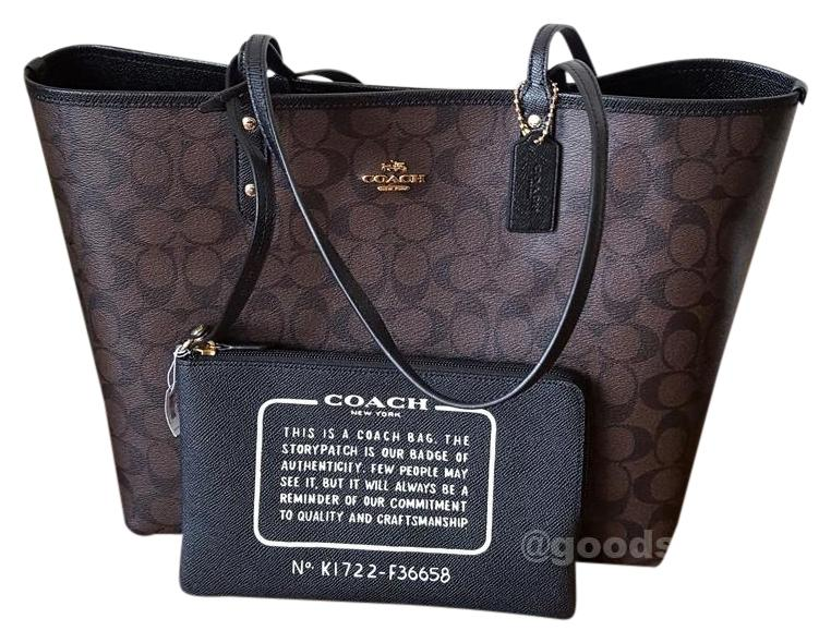 d98517331 ... bag ladys city zip tote in signature f58292 brown 11 13 shinnyu load  5d2c5 92a72; where to buy coach tote in brown black d0d1d 56c6b