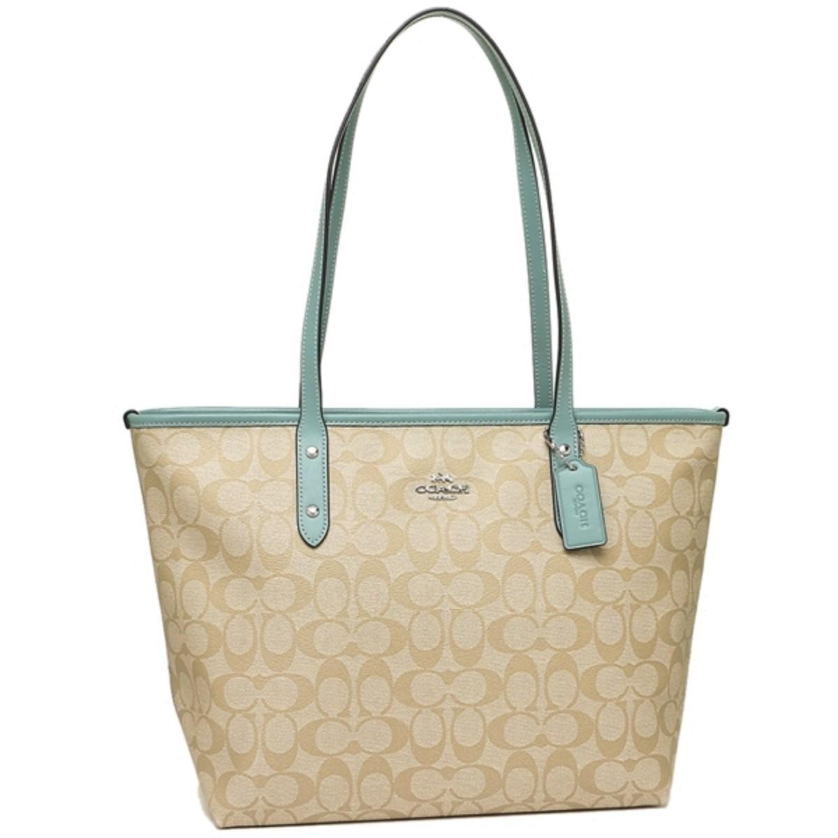 c8f6192061 ... where to buy coach monogram zip tote light green shoulder bag 1947a  1cf11