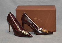 Coach C0 Dree Brush Box Calf Wine Pumps