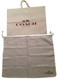 Coach Coach dust bag (new) and Coach Shopping bag (12X16X6 inches)