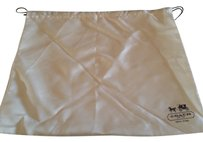 COACH COACH Protective Cover Ivory With Black Logo Travel Dust Bag Size : 23