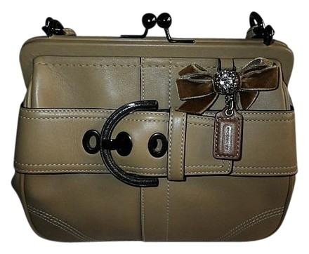 Preload https://item1.tradesy.com/images/coach-coffee-cream-enamel-belt-kisslock-frame-w-crystal-bling-beigebrown-leather-clutch-808630-0-0.jpg?width=440&height=440