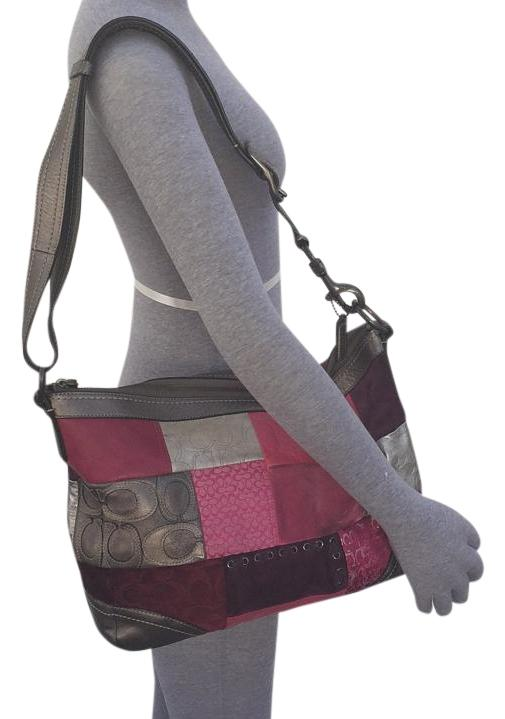 coach pink and gray purse fyuo  Coach Cross Body Bag