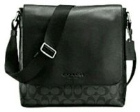 Coach Cross Body Charles Black and smoke grey Messenger Bag