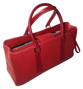 Coach Dooney Gucci Channel Hermes Rare Vintage Tote in Red