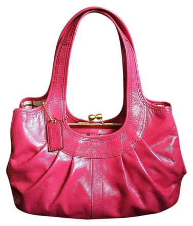 Preload https://item1.tradesy.com/images/coach-ergo-tattersall-pleated-frame-purse-tote-pink-patent-leather-satchel-421620-0-0.jpg?width=440&height=440