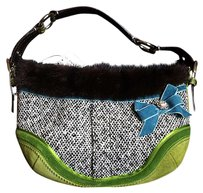 Coach Exotic Python Mink Tweed Sm Hobo Bag