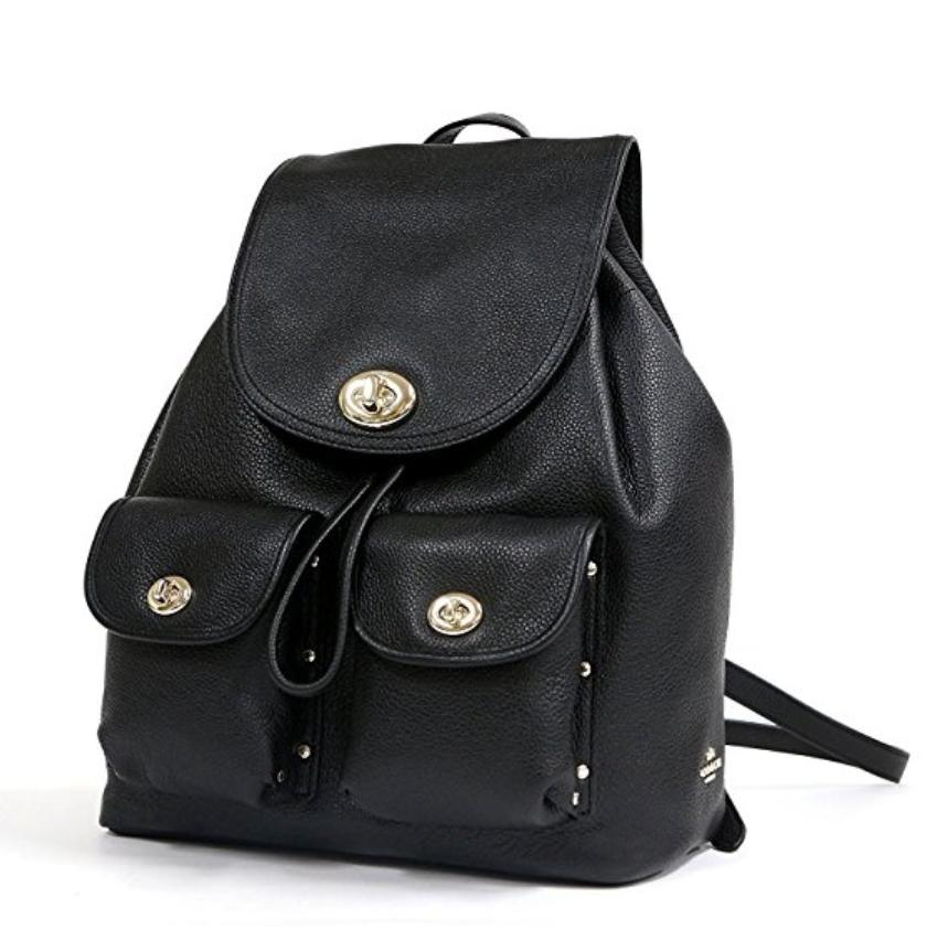0ce72e5f1 ... sweden coach rucksack 37582 turnlock rivets pebble leather backpack.  1234 b9d0d 127a7