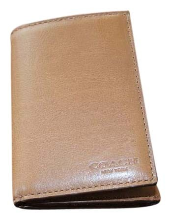 Coach Fawn Bleecker Trifold Leather Brown Wallet