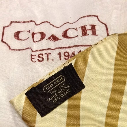 Coach Reversible Coach Twilly Neck Bag Scarf