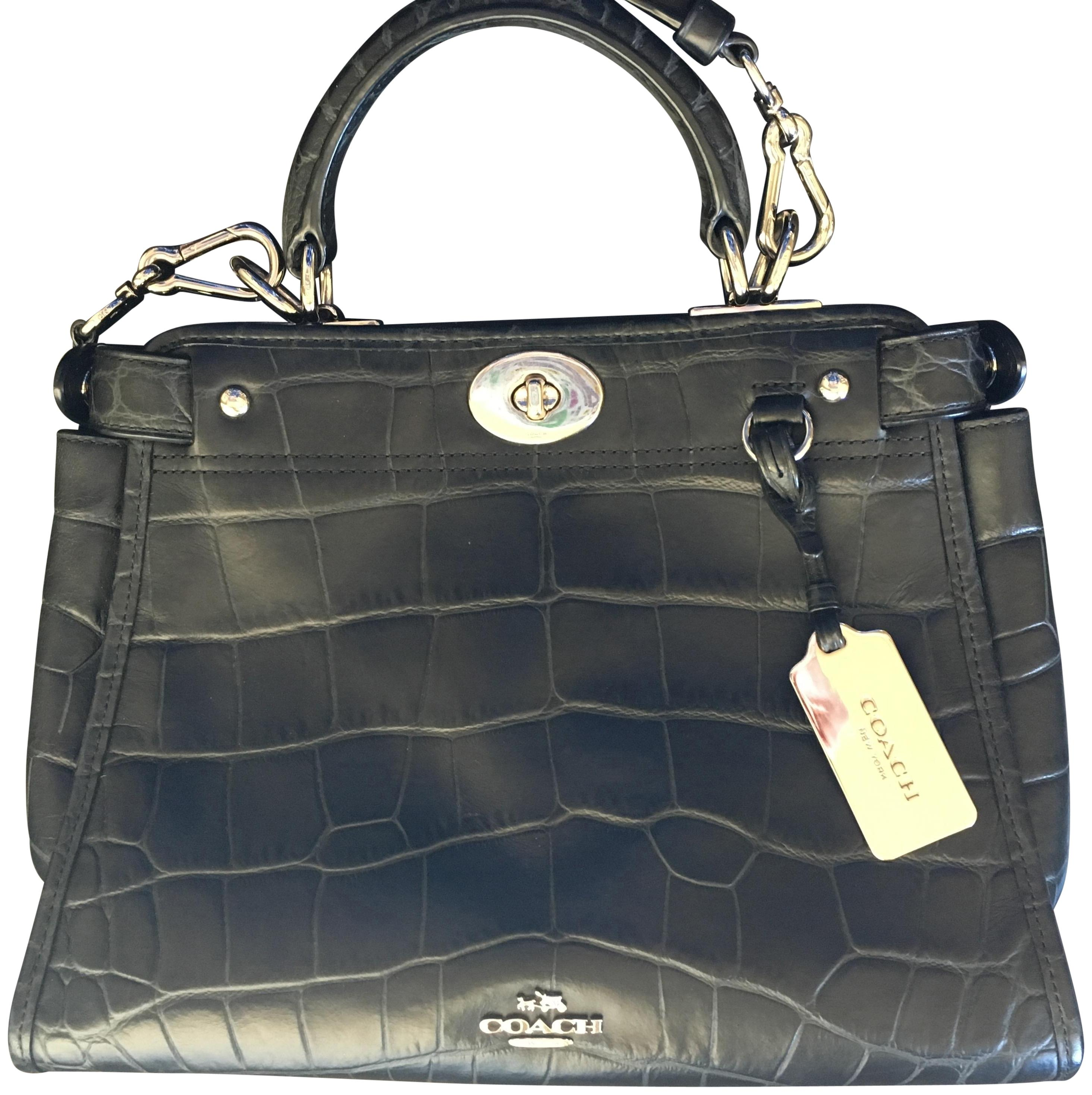 547f69f53a1fc 12345 8ddcb 83883  where to buy coach embossed classic satchel in black  6a7aa 0796a