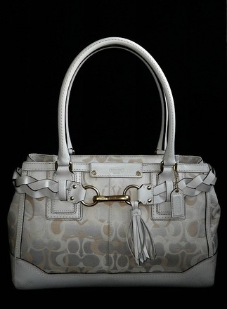 Coach Louis Vuitton Chanel Vintage Tote in Ivories