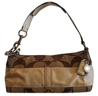 Coach Signature Stripe Khaki Hobo Bag