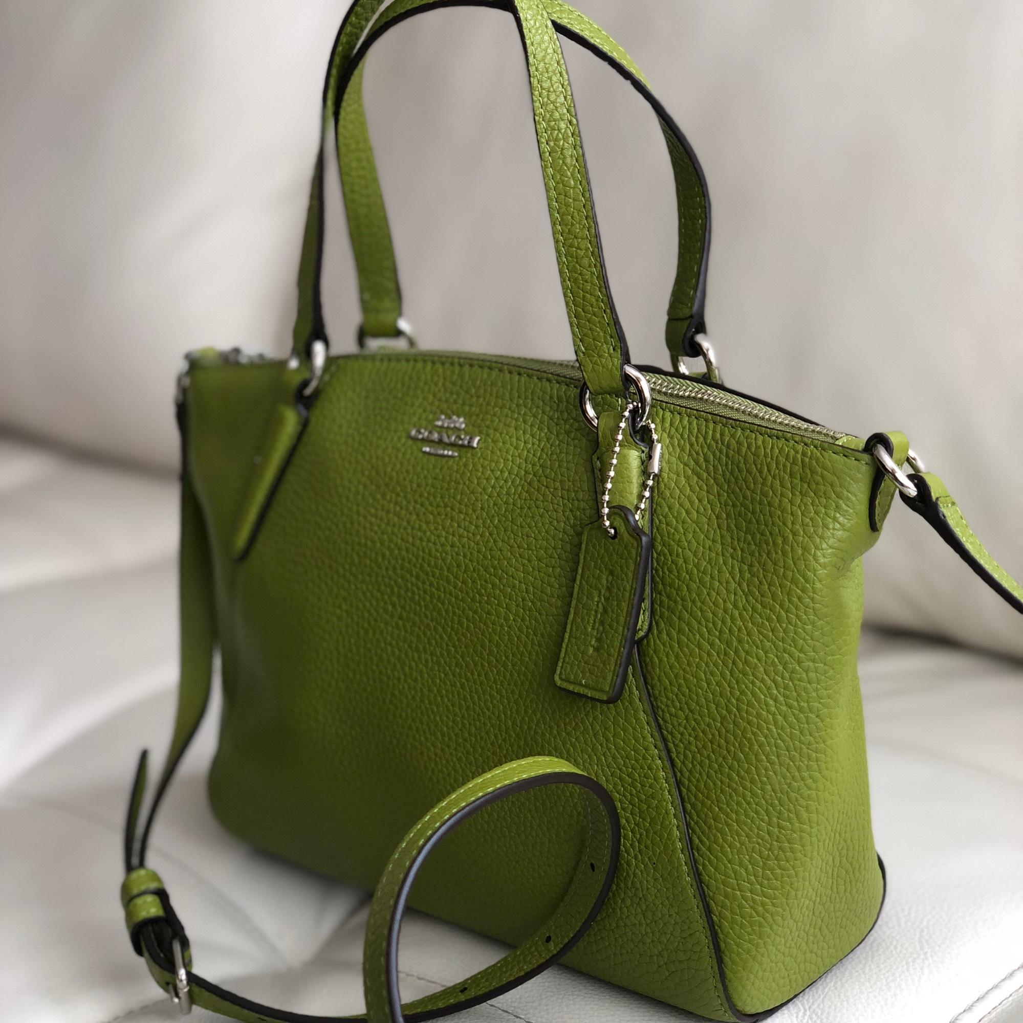 900855e2257c ... low price coach kelsey f28994 silver mini satchel yellow green leather  cross body bag tradesy b2dee