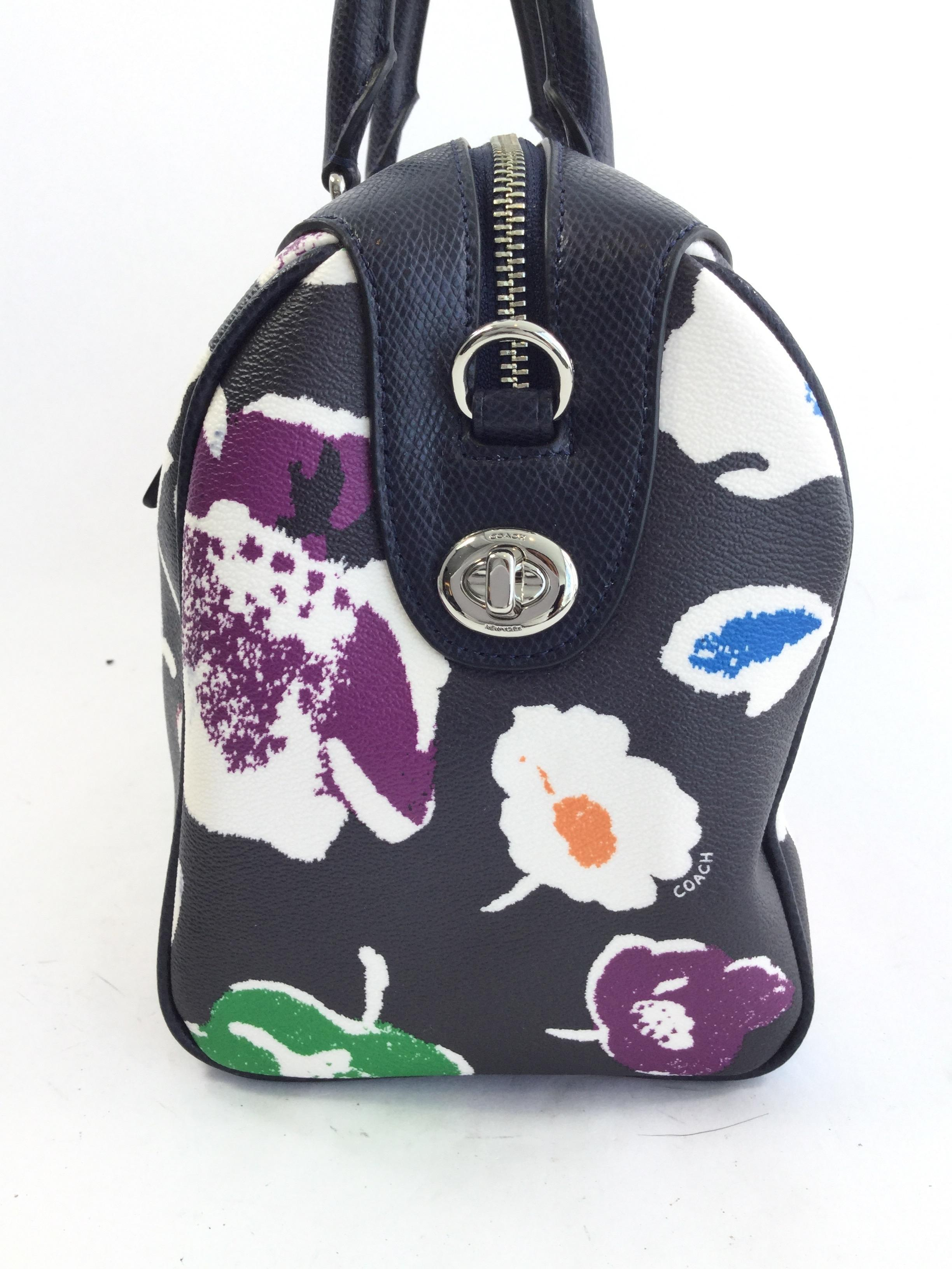 Coach Large Summer Floral Black/ Multicolor Cross Body Bag On Sale 67% Off | Cross Body Bags On ...
