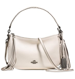 Coach Leather Silver Chelsea New With Ivory Cross Body Bag