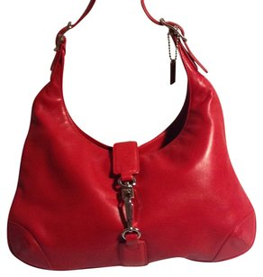 Coach Leather Silver Hobo Bag
