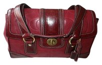 Coach Louis Vuitton Dooney Gucci Channel Rare Vintage Satchel in Red