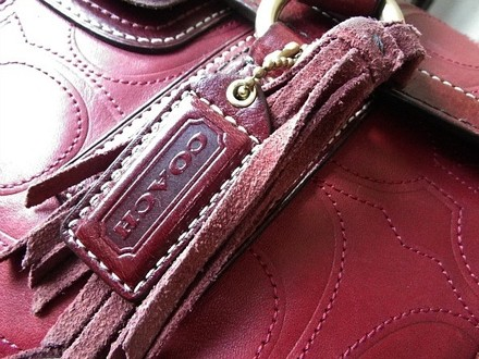 Coach Louis Vuitton Dooney Bourke Gucci Channel Rare Vintage Satchel in Red