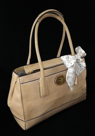 Coach Louis Vuitton Dooney Bourke Gucci Channel Rare Vintage Tote in Beige/Camel/Natural