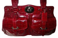 Coach Louis Vuitton Dooney Bourke Channel Gucci Rare Vintage Tote in Red