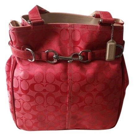 Coach Louis Vuitton Dooney Bourke Gucci Rare Vintage Satchel in Pink