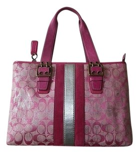 Coach Louis Vuitton Dooney Bourke Gucci Channel Rare Vintage Tote in Pinks