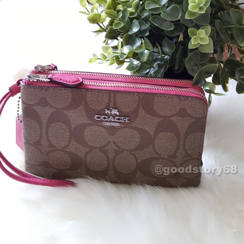 ea2688bfc0cb ... clearance coach coach f87591 signature coated canvas double corner zip  wallet. 12345678 6c319 d457e