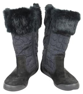 Coach Womens Mid Calf Black Boots