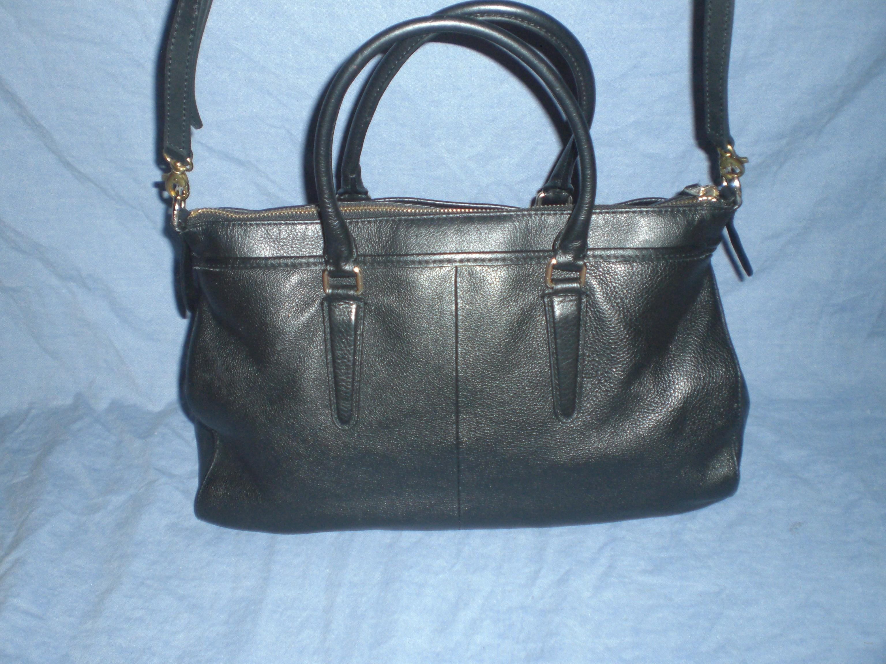 0a8b2bacf7 ... clearance coach morgan f35185 satchel crossbody black pebble leather  satchel e6cec 90b5a