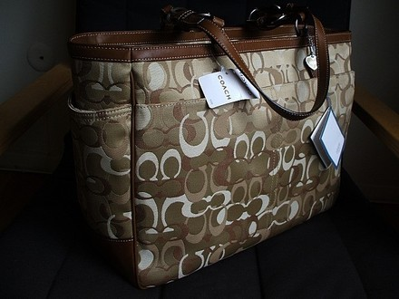 Coach Louis Vuitton Gucci Chanel Rare Tote in Khaki, Tan