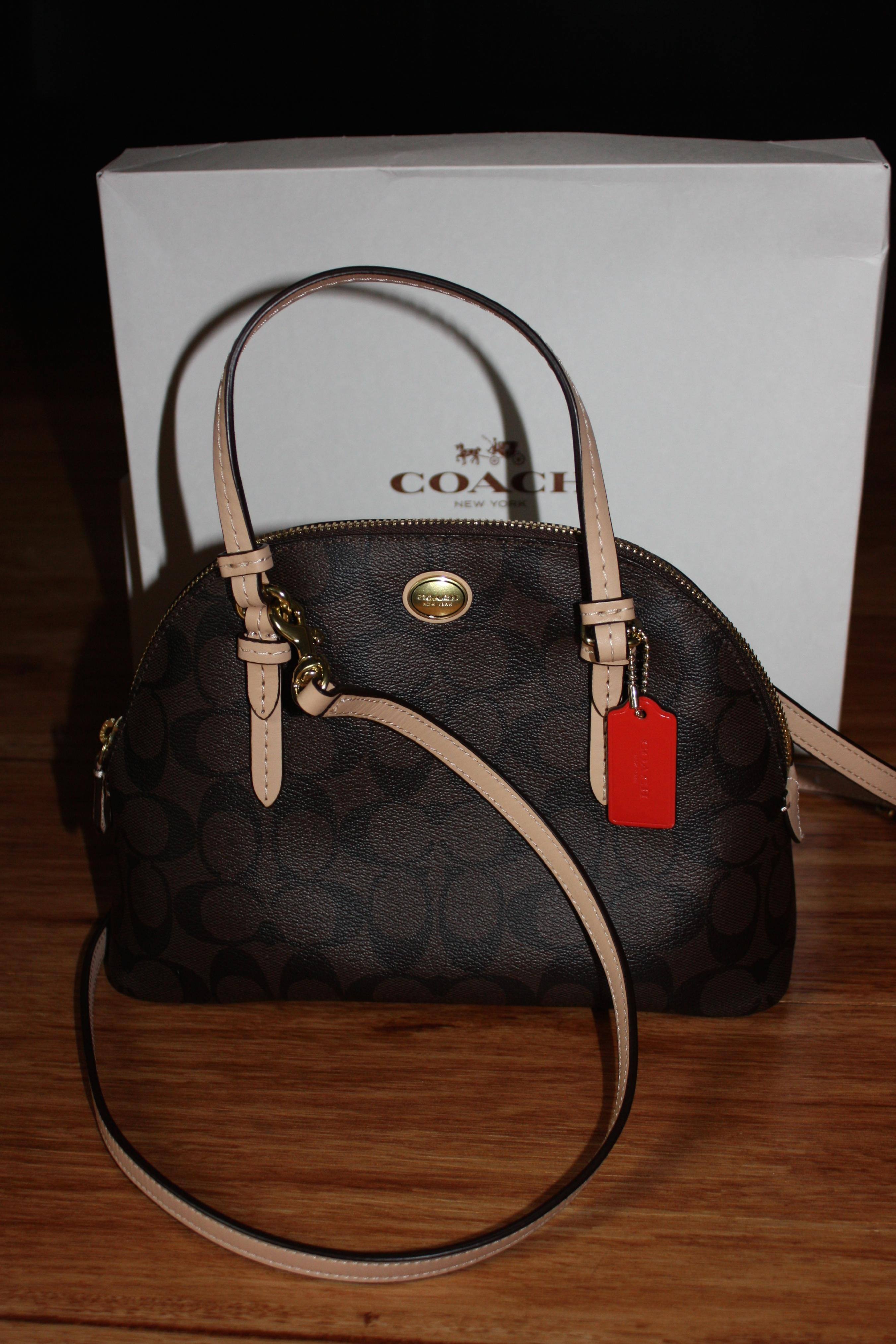 d8fe6cd2399af ... sweden coupon for coach peyton signature domed cora mini satchel new  with purse handbag cross body