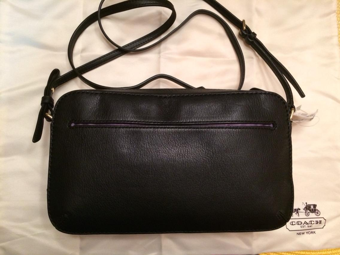 Low Price Coach Poppy Flight Bag Quickly C26da 4ad48 50 Off Black Leather Cross Body Ee4ed 45e2c