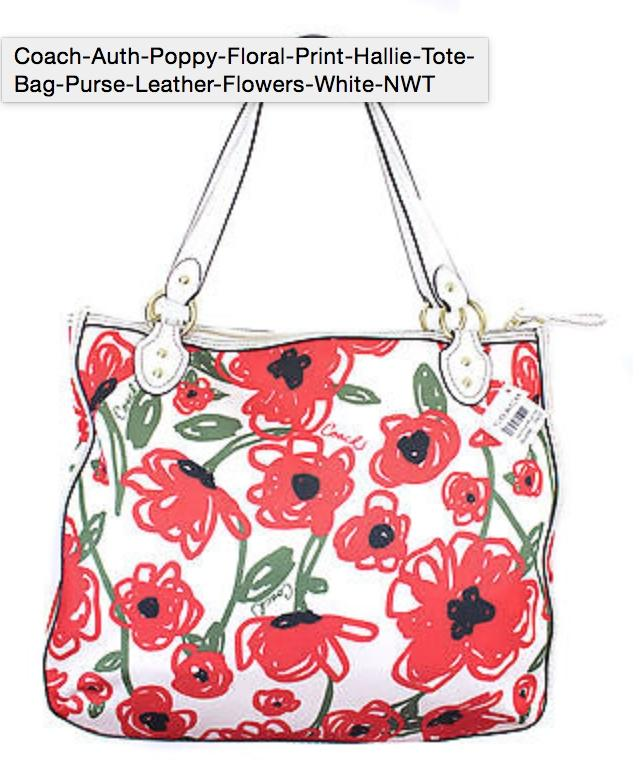 Switzerland Coach Red Flower Purse 4f811 3060c