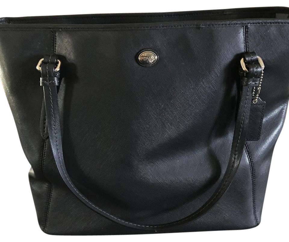 Coach Saffiano  Leather Dark Grey Tote