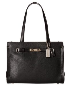 Coach 34915 Swagger Pebble Satchel in Black