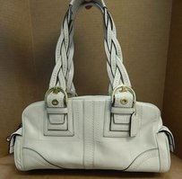 Coach 10048 Mia Leather East West Satchel in Ivory