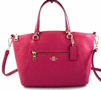 Coach Pebbled Leather Prairie Satchel in Pink