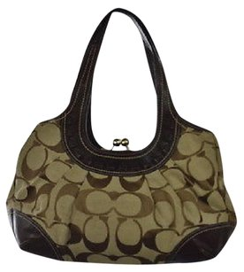 Coach Womens Brown Shoulder Bag