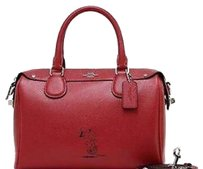 Coach Snoopy Bennett Satchel Handbag in Classic Red F 37272 Satchel